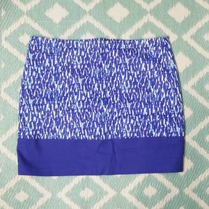 Michael Kors Blue Pencil Skirt  White sz 12